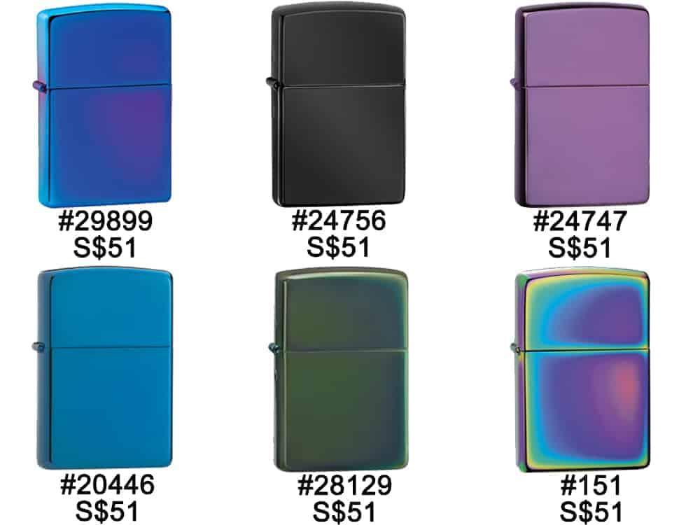 Zippo Lighter Singapore - color