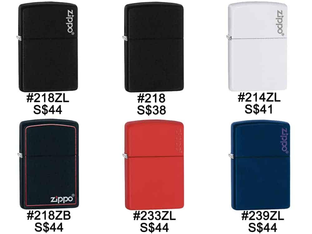 Zippo Lighters Singapore - Zippo Color Matte