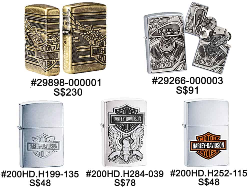 Zippo Lighters Singapore - Zippo Harley Davidson